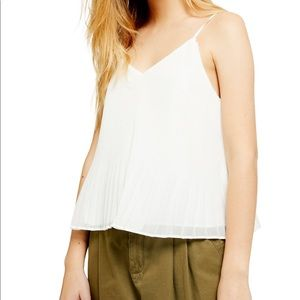 NWT Topshop pleated Tank Top